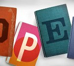 letters o-p-e-n on books