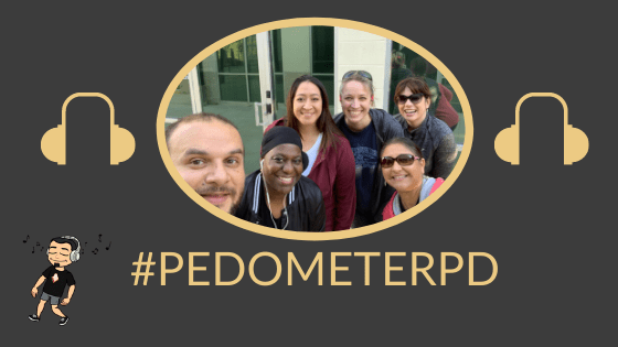 #PedometerPD: Learn While You Work Towards Your Step Goal!