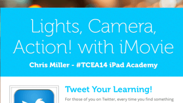 iMovie apple iPad iOS edtech edtechchris tcea