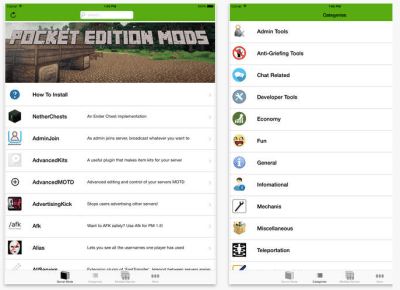 Mods for Minecraft PE edtechchris edtech iOS iPad