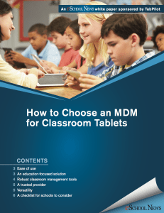 Choose MDM Solution TabPilot TCEA ISTE edtech