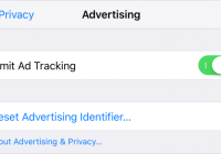 Opt out of ad tracking on iOS devices