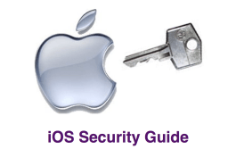 Apple iOS Security Guide EdTechChris