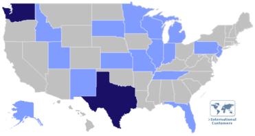 Skyward USA map