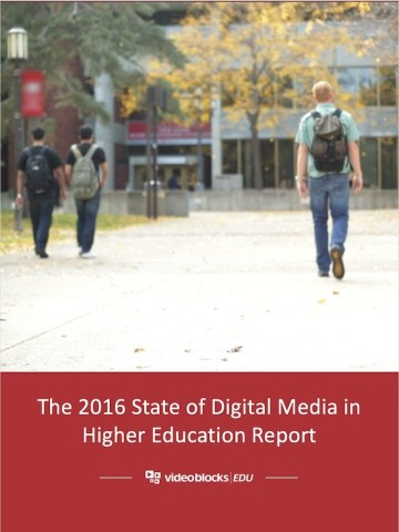 CREDIT videoblocks 2016 state of digital media in higher ed