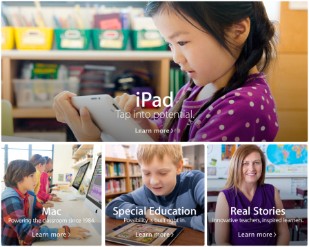 Apple Education new site