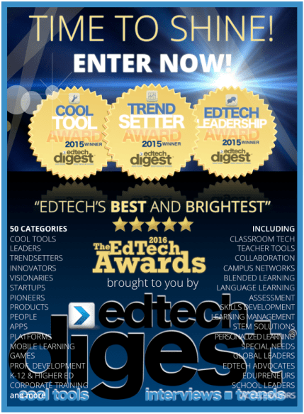 EdTech Awards 2016 enter now