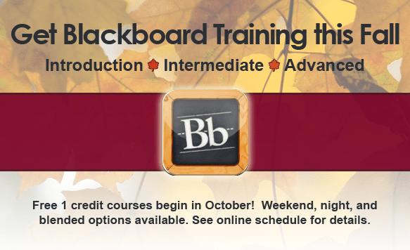 Blackboard Training Fall 2013