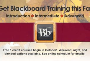 Blackboard Training Fall 2013