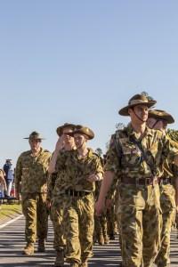 GOLD COAST, AUSTRALIA - APRIL 25, 2011 : Memorial service with War Veterans on Anzac Day