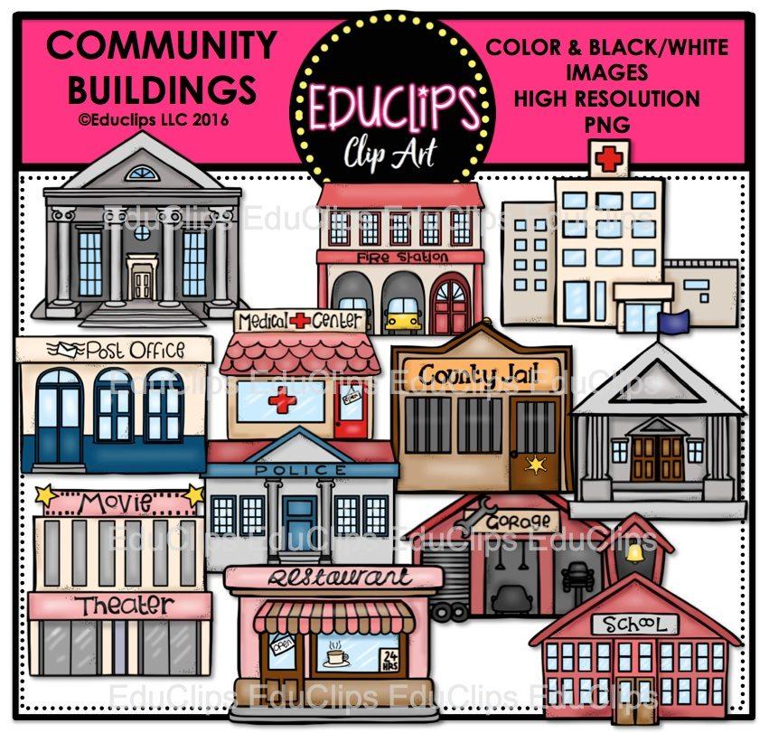 White Courthouse Clip Art