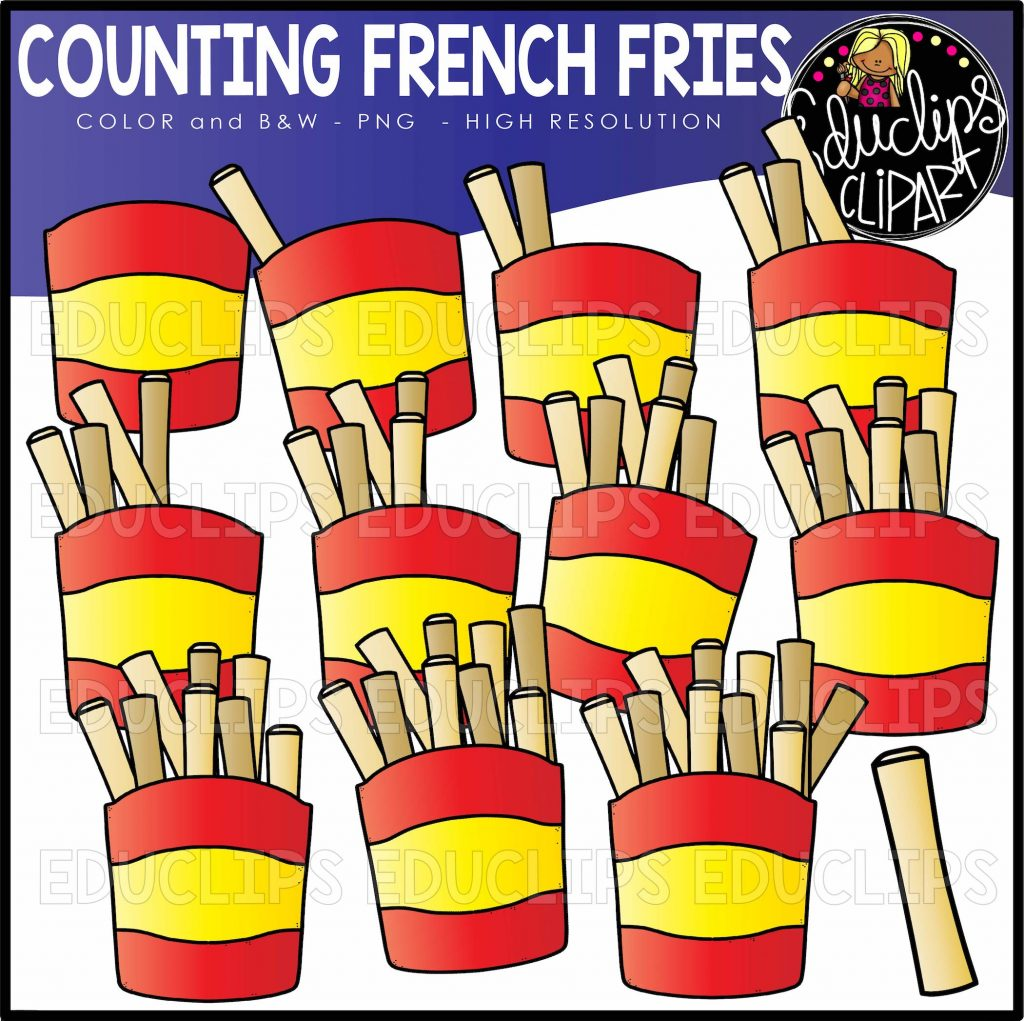 Counting French Fries Clipart Set