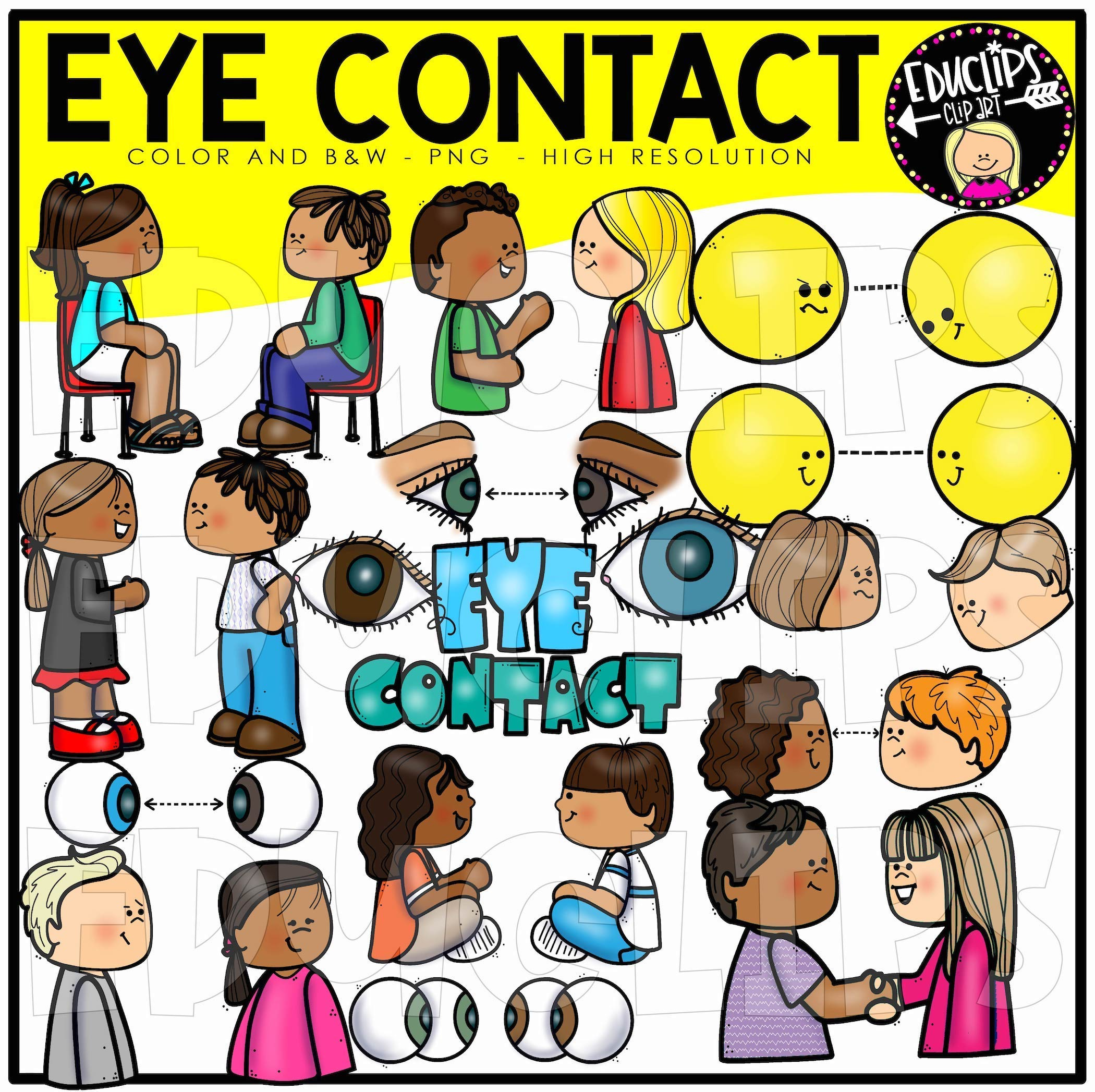 Eye Contact Clip Art Set