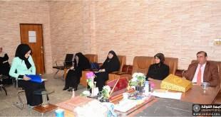 حلقة نقاشية في قسم اللغة العربية بعنوان الإحالة في خطب المسيرة الحسينية –دراسة نحوية نصيّة