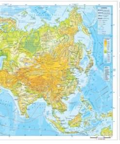Asia harta fizica