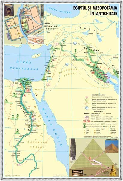 IHA3 Materiale didactice istorie harti murale HARTA EGIPTUL SI MESOPOTAMIA1