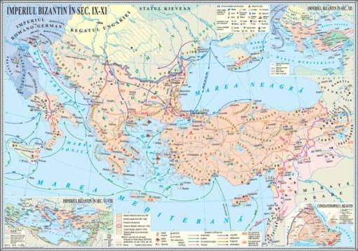 IHMED4 Materiale didactice istorie harti murale HARTA IMPERIUL BIZANTININ SECIX XI