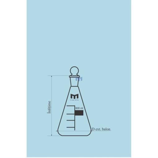 pahar erlenmeyer cu dop rodat 1