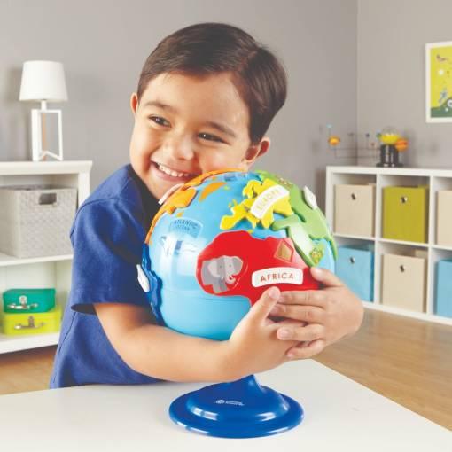 interactive puzzle globe 3