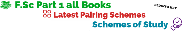 Sahiwal Board FSc First Year Pairing Scheme of Studies all Subjects