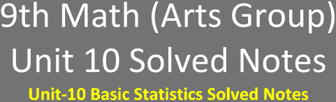 Unit-10-9th-Math-Arts-Solved-Notes