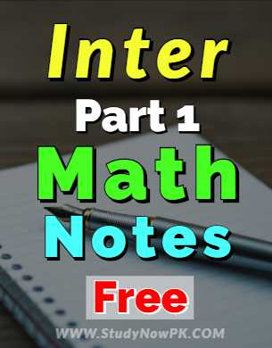 Download Math Notes FSc 1st Year Inter Part 1 Complete Solution fi