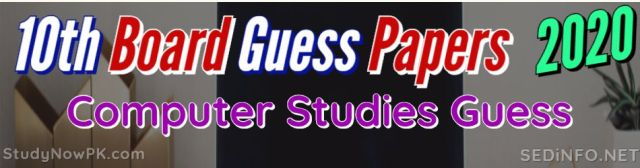10th Computer Guess Papers with Sure Success Latest