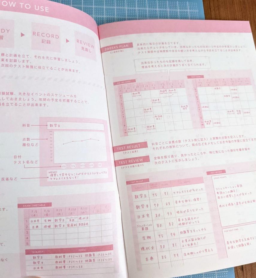 ダイソー「MY STUDY PLAN」の使い方