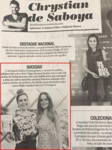 Novo Jornal - Coluna de Chrystian de Saboya