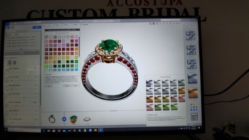 Rings are designed so that you can see them virtually on the computer when you work with us in-studio at Eduardo Accostupa Jewelry Designer.