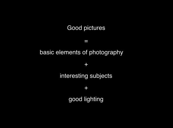 Elements of a good photograph