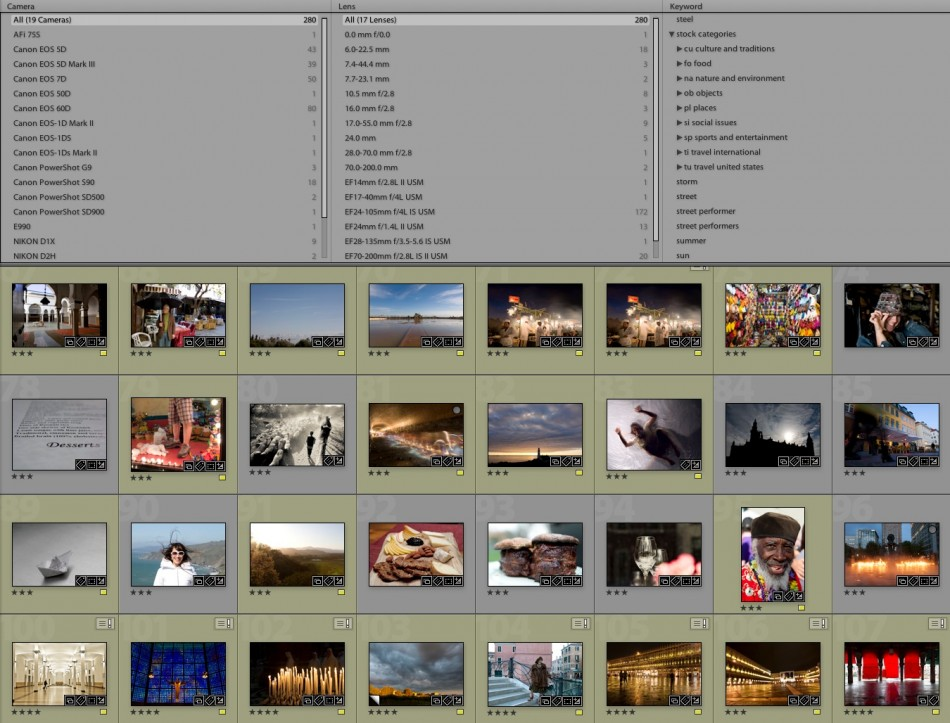 Using Adobe Lightroom as a database