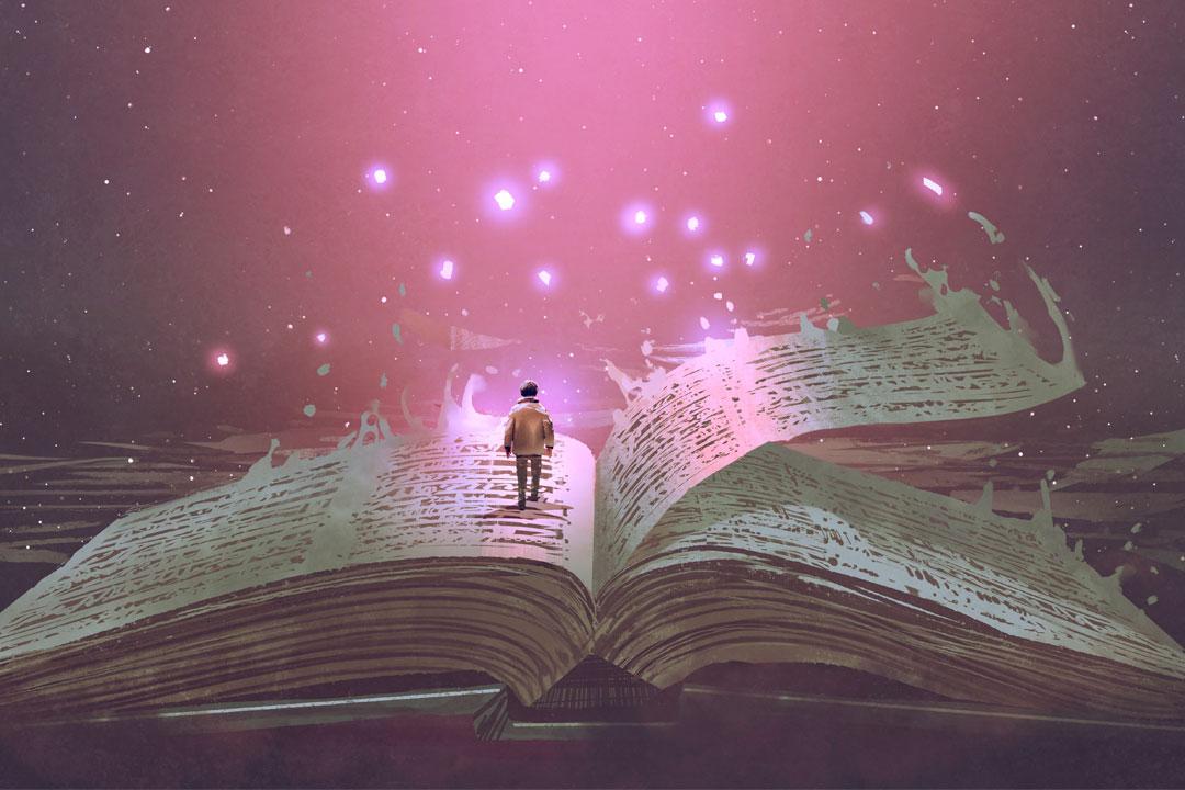 Niño en libro - Adobe Stock