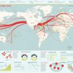 Figura com o mapa do tráfico global de internet