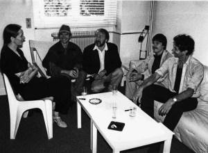Jury beraad in 1986 in Parijs in het Théatre de la Ville