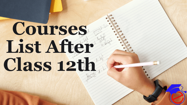 Courses List After Class 12th