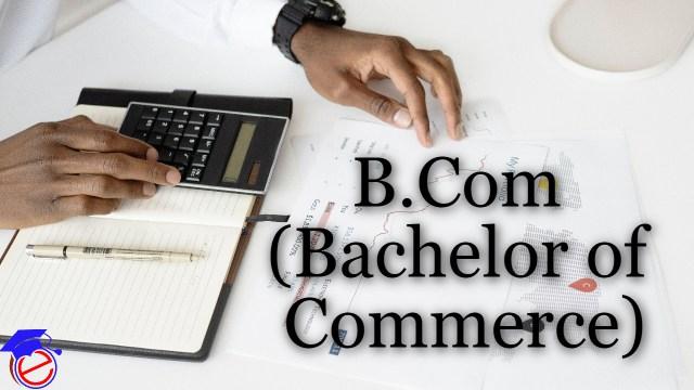 B Com (Bachelor of Commerce)