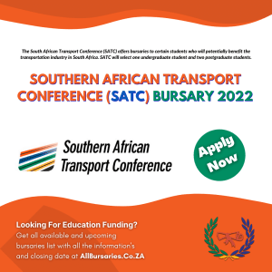 Southern African Transport Conference Bursary