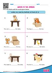 English Prepositions Worksheets Kindergarten