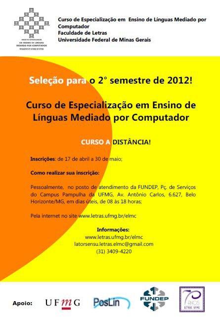 Curso à Distância: Especialização em Ensino de Línguas mediado por computador
