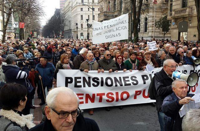 Movilizaciones por las pensiones marzo´18. UGT recurre ante los Tribunales el Real Decreto del Gobierno de subida de las pensiones.