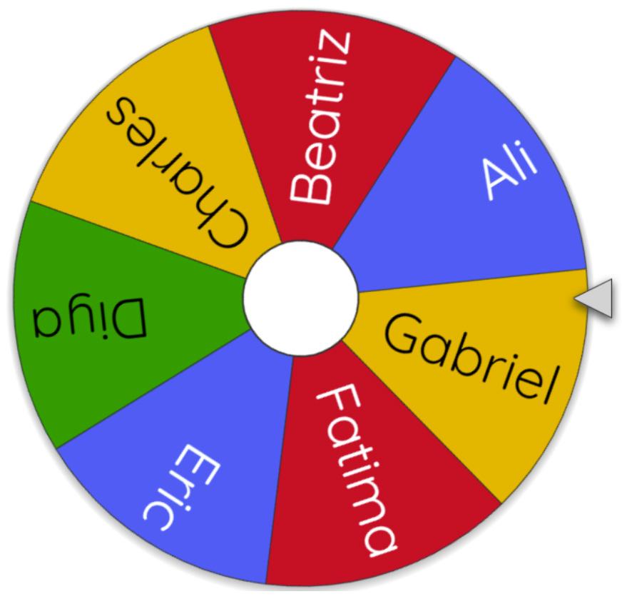 Ruleta Wheel of Names