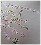 Nubes de palabras y dibujos (VI)