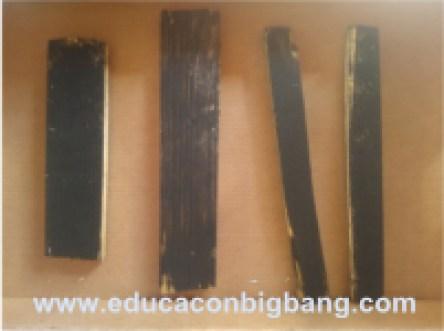 Maderas pintadas de negro
