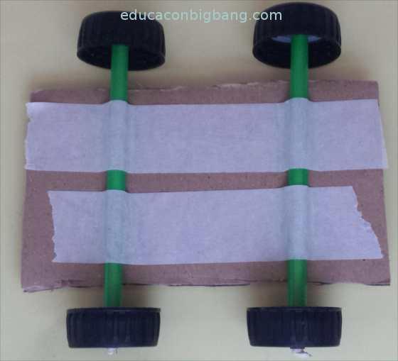 Base del coche con las ruedas
