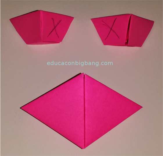 Instrucciones para pegar las pirámides