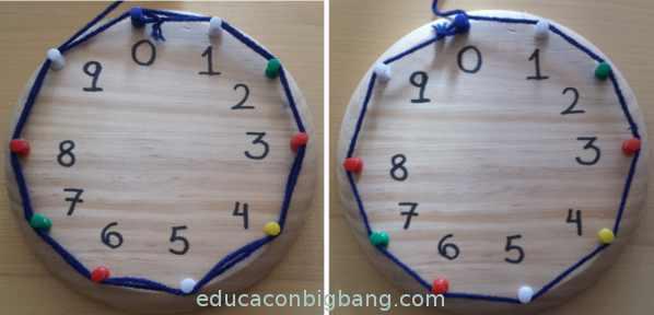 polígono formado al hacer las tablas del 1 y del 9