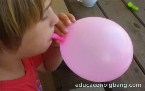 inflando globo