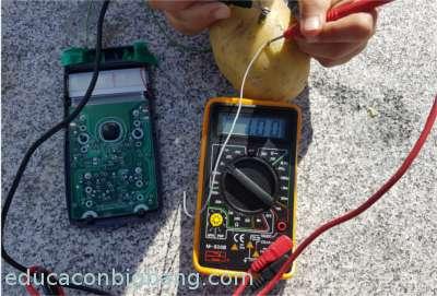 midiendo el voltaje