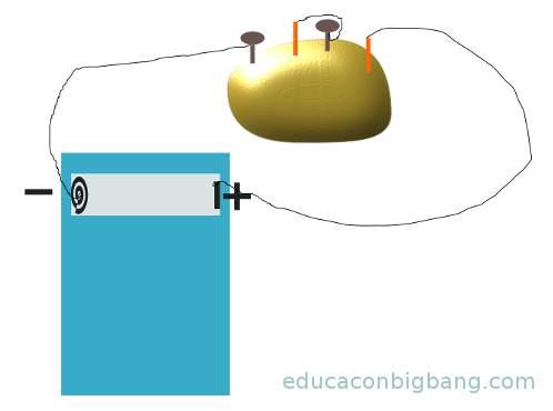 conexion en serie con una patata